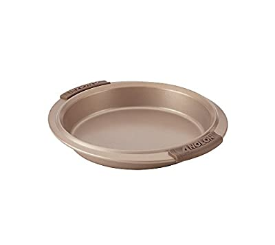 Anolon Advanced Nonstick Bronze Round Cake Pan with Silicone Grips