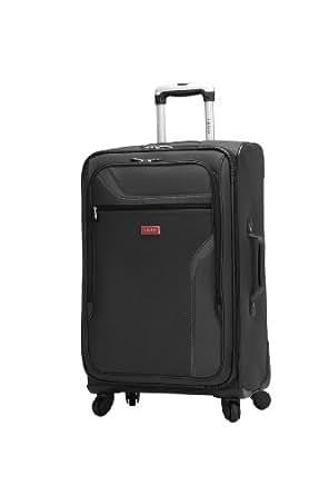 IZOD Luggage Journey 3.0 24-Inch 4-Wheel Expandable Upright, Black, One Size
