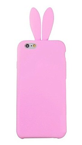 iPhone 6 Case,Newstore Cute Lovely Rabbit Silicone Bunny Gel Case Skin Cover Protector For Apple iPhone 6 4.7 inch with Furry Tail +Free Packing With Newstore Trademark gifts (Pink) ()