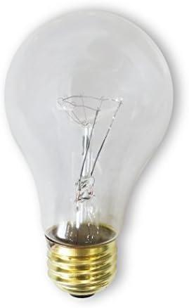 Clear, 24 Pack Standard Household E26 Bulb 40 Watt A19 Medium Base 130 Volt Rough Service 3000 Hour Incandescent