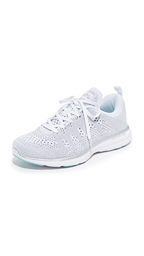 APL: Athletic Propulsion Labs Women's Techloom Pro Sneakers, White/Silver, 6.5 B(M) US