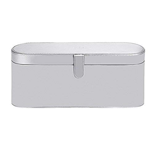 Magnetic Flip PU Leather Case for Dyson Supersonic Hair Dryer Basstop Portable Moistureproof Anti-scratch Dustproof Organizer Travel Gift Case (Case, Silver)