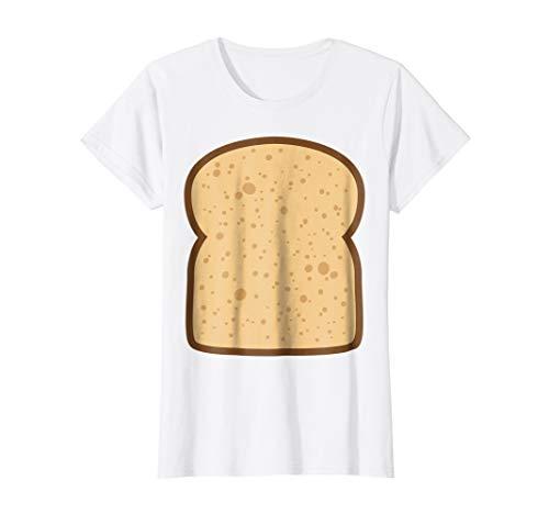 Womens Sliced Bread Toast Matching Shirts DIY Halloween Costume Small White -