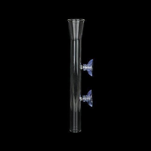 - Senzeal Aquarium Clear Glass Feeder Tube for Fish Tank Shrimp Feeding with 2pcs Suction Cups 200mm/7.87'' Length