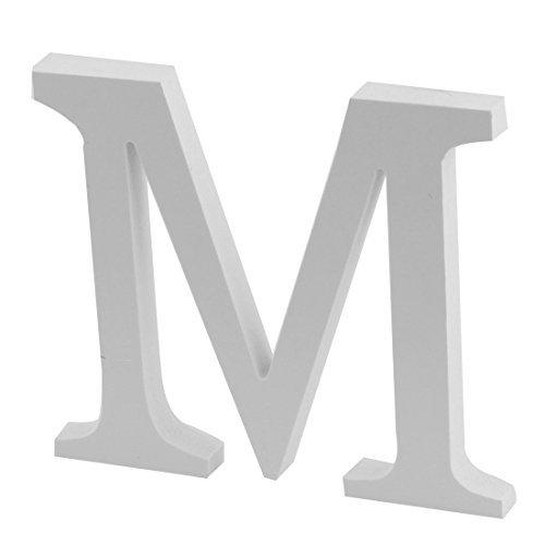 De letra do alfabeto da festa de casamento Plywood DealMux Decorao Ingls M DIY Parede Branca
