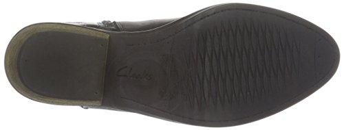 Clarks Damen Gelata Italia Kurzschaft Stiefel Schwarz (Black Combi Leather)