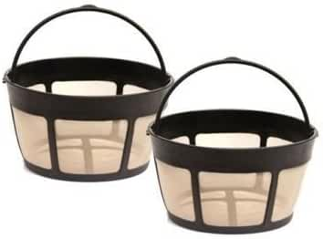 2 Pack Cuisinart Gtf-b Gold Tone Coffee Filter 8-12 Cup Permanent Basket Style