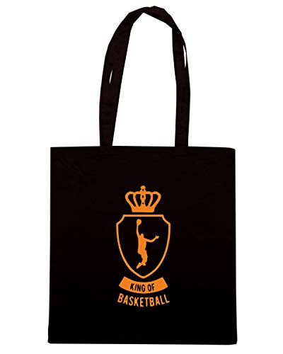 Borsa Shopper Nera SP0101 KING OF BASKETBALL