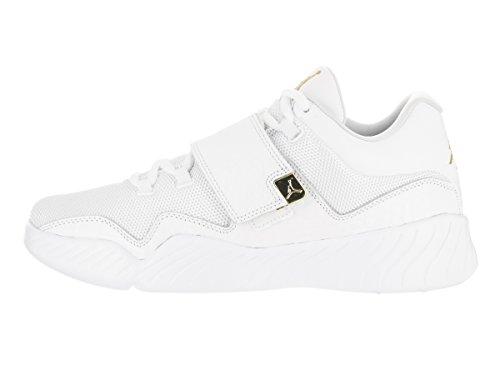Jordan Nike Heren J23 Toevallige Schoen Wit / Metallic Goud-zuiver Platina