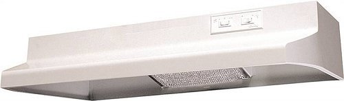 (Air King AR1303 7-Inch Round Ducting Under Cabinet Range Hood with 2-Speed Blower and 180-CFM, 7.5-Sones, 30-Inch Wide, White Finish)