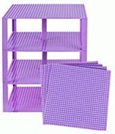 4 Pack 25,5 Centimetri x 25,5 Centimetri Baseplate Bundle con 30 Nuovi e 2x2 migliorata Elevatori Compatibile con Tutte Le Marche Strictly Briks Piastre Premium Arancione impilabile Base