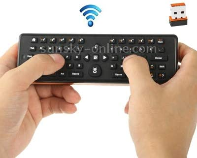 Keyboard for PC//TV//Media Player//Android TV Box 161 x 51 x 20mm Size Computer Accessories EA-02 2 in 1 2.4GHz Wireless Air Mouse