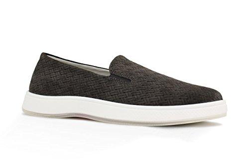 Aureus Vrouwen Candice Geperste Nubuck Lage Slip-on Fashion Sneaker Charcoal Grijs