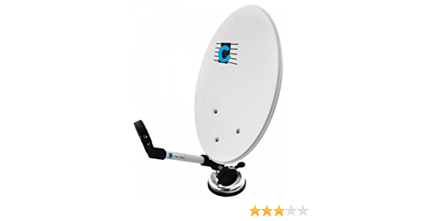 Cabletech ANT0094 - Antena satélite para camping Plato de 35x38 cm