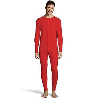 Hanes Men's Waffle Knit Thermal Union Suit FreshIQ, X-Temp Technology & Organic Cotton