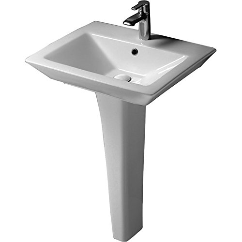 Barclay 3-361WH Opulence Pedestal Lavatory Rectangular Bowl In White