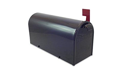 Lazy Hill Farm Designs 999198 Bristol Mailbox Hand Fabricated Black, 10-Inch High by 8-Inch Wide by 21-Inch Depth