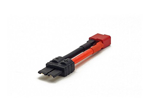- High Current Adapter - Deans Ultra (T-Plug) Female to Traxxas High Current TRX Male (12AWG) - For Battery, ESC, or Charger (Leads, Cables, Wires, Connectors, Plugs)