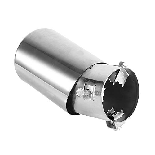 - 62mm Universal Rear Car Exhaust Muffler Pipe End Tip- Stainless Steel Exhaust Muffler Tail Pipe Tailpipe Trim Tip