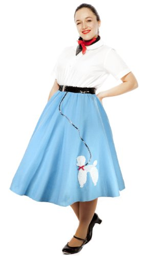 [Poodle Skirt Adult Med / Large Size (Blue)] (1940s Dance Costumes)