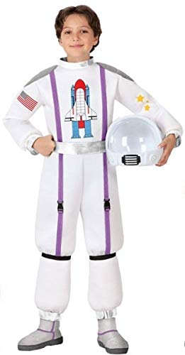 Boys Girls Space Astronaut Explorer World Fancy Dress Costume Outfit 3-12 years (3-4 years)]()