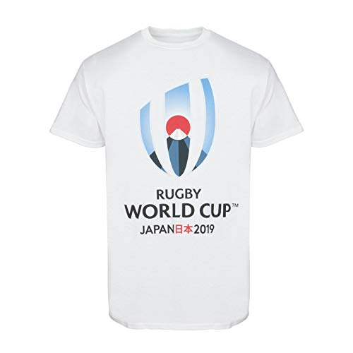 (Official Rugby World Cup 2019 Mens Logo Plus Size T-Shirt - White - 3XL)