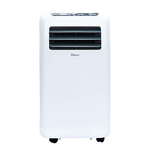 Shinco SPF2-12C 12,000 BTU Portable Air Conditioner,Dehumidifier Fan Functions,Rooms up to 400 sq.ft, Remote Control, LED Display, White