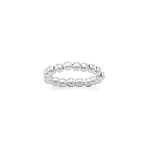 Bead Stretch Toe Ring 3mm Sterling Silver Bead Strech Toe Ring ()