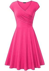Laksmi Bridesmaid Dresses, Women Stretch Curve Summer Party Banque,(X-Large Light Rose)