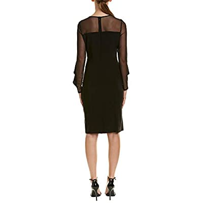 R&M Richards Women's One Piece Short Cocktail Laced Sleeve Dress: Clothing