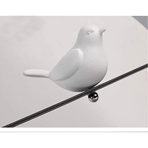 QRY Modern Nordic Minimalist Porcelain Bird LED Night Light Hollow Design Iron and Acrylic Lamp Body Decoration Table Lamp Perfect Decoration (Color : Black) ()