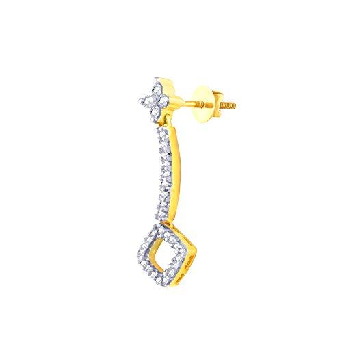 Giantti 14carats Diamant pour femme Dangler Boucles d'oreilles (0.386CT, VS/Si-clarity, Gh-colour)