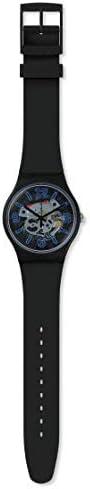 Swatch 1907 BAU Quartz Silicone Strap, Black, 19.5 Casual Watch (Model: SUOB165) WeeklyReviewer
