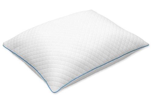 Tempur SEALY Hybrid almohada 40 x 80 cm, con fibras y Memory Foam/espuma viscoelástica y jersey funda - 3 AñOS DE GARANTíA.: Amazon.es: Hogar