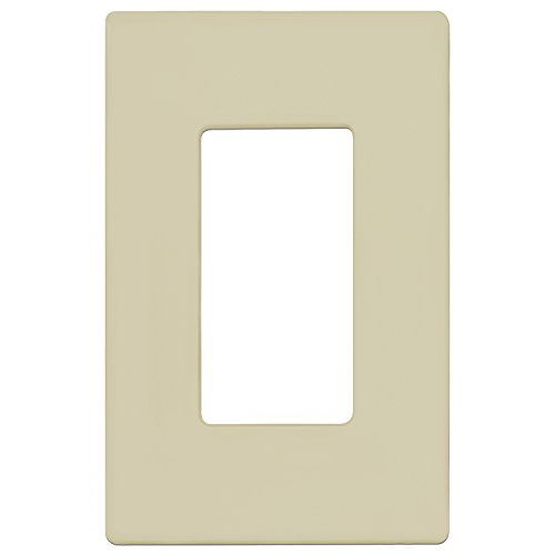 ENERLITES Screwless Decorator Wall Plate Child Safe Outlet Cover, Size 1-Gang 4.68