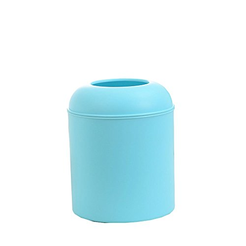 Black Oriental Storage Cabinet (Animal Pet Litter Waste Trash Recycle Bin Round Office Kitchen Desk Mini Trash Can Small Plastic Garbage Can Food Waste Bin Storage Recycle Bag Holder Gathering Disposal Container (Blue, Hole))
