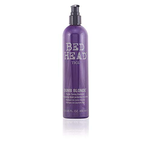 Tigi Bed Head Dumb Blonde Purple Toning Shampoo - 400ml/13.5oz (Blonde Bed Dumb Tigi Head Shampoo)