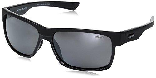 Glass Camden (Revo Unisex RE 5011X Camden Rectangular Polarized UV Protection Sunglasses, Black Frame Graphite Lens)