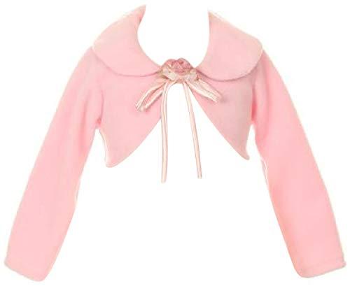 BluNight Collection Long Sleeve Fleece Bolero Jacket Big Girl Special Occasion Bolero (21KD6) Pink 12