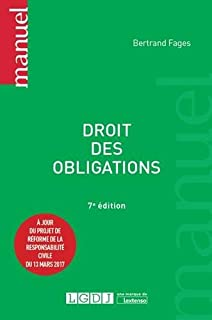 Amazon Fr Droit Des Obligations 5eme Ed Bertrand Fages Livres