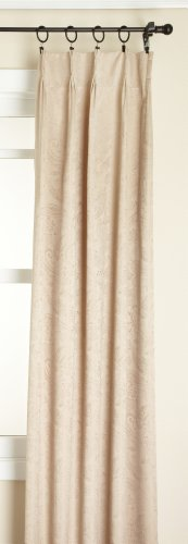 Foam Back Drape - Stylemaster Gabrielle Pinch Pleated Foam Back Drape Pair, Taupe, 48 by 63-Inch