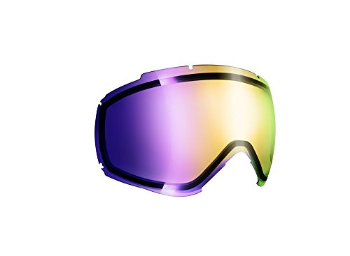 Cébé R/L Fanatic M Ecran de Remplacement pour Masque de Ski Mixte Adulte R/l Fanatic M Light Rose Flash Mirror