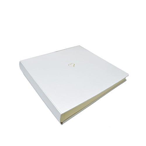 Image of Bookshelf Albums Sloane Stationery Large'Wedding Collection' Heart Album - White