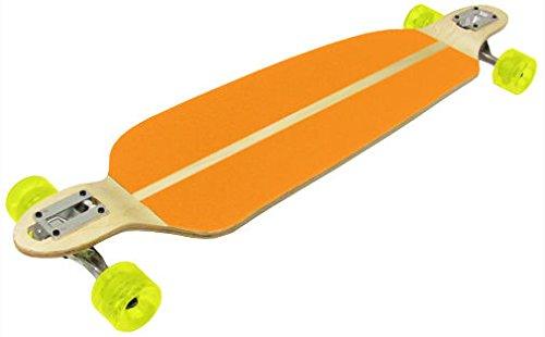 ThroughマウントダブルドロップDown Longboard – オレンジグリップwith 76 mmホイール B01N9WJ0TL