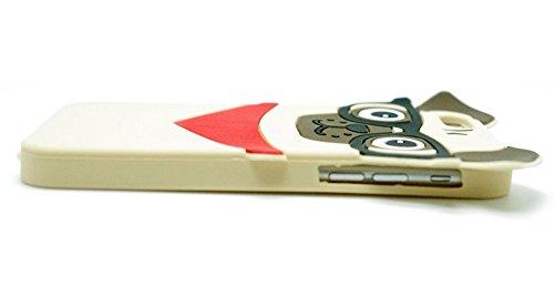 Funda iPhone 6 Plus, Funda iPhone 6S Plus, 3D Perro Pug Silicona Fundas para iPhone 6 Plus y iPhone 6S Plus Carcasas Caja del Teléfono Animal