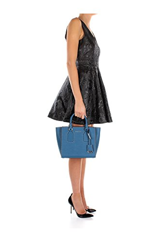 Borse a Mano Michael Kors Donna Pelle Blu e Argento 30H5DEYS6LSTEELBLUE Blu 15x24.5x23 cm