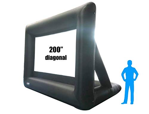 25Ft Inflatable Front and Rear Projection Portable Movie Screen Blow up Outdoor IWS200 Diagonal Total (View Area 200