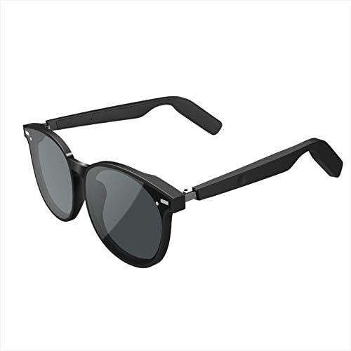 HMY Bluetooth 5.0 Touch Fingerprint Smart Sunglasses Anti-Blue Light Lens Hands-Free Voice Control Smart Glasses Intelligent