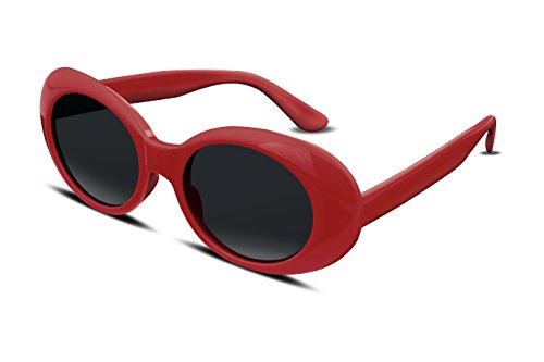 FEISEDY Candy Retro Acetate Red Frame Clout Goggles Kurt Cobain Sunglasses B2253
