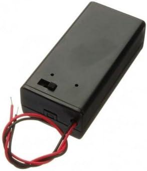 9 V soporte para caja de pilas para unidades de encendido/apagado de palanca interruptor de alimentación negro: Amazon.es: Electrónica
